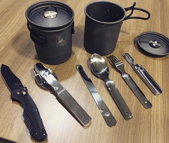 Столовый набор Helikon-tex=/нож складной/ложка/мультитул/fiskars/mora