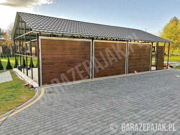 Konstrukcja metalowa pod garaż z bramami - Garaż Blaszany - Hala ,