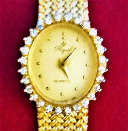 Relógio de senhora ROYAL  Quartz com bracelete original metalica