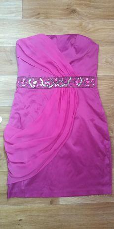 Платье, коктейльное, мини, короткое, корсет