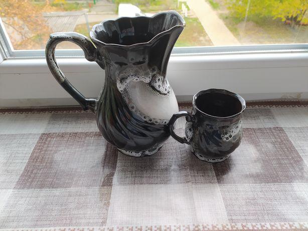 Кувшин с чашкой, керамика