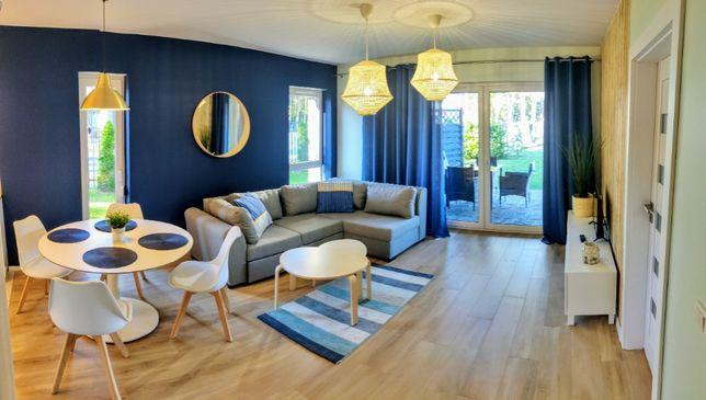 Pogorzelica, Apartament z Ogrodem (50m², 150m od plaży, 4 osoby)