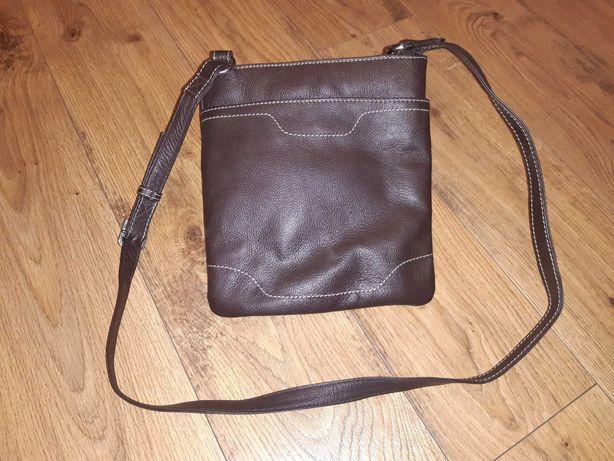 Nowa, skórzana torebka na ramię
