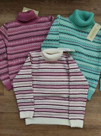 Шерстяные свитера для девочек в ассортименте с 92 по 140