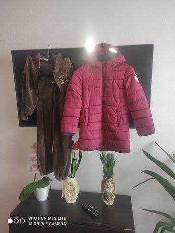 Пакет одягу на 122 спортивний костюм+ куртка фірмові