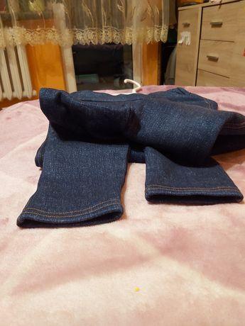 Getry legginsy spodnie ocieplane gumowe ala jeans 158 164 na gumie
