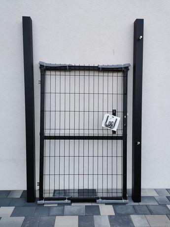 Furtka panelowa bramka 1.53 słupy 80x80