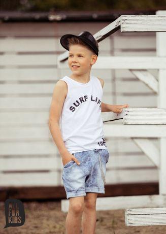 All for Kids T-shirt biały bez rękawów