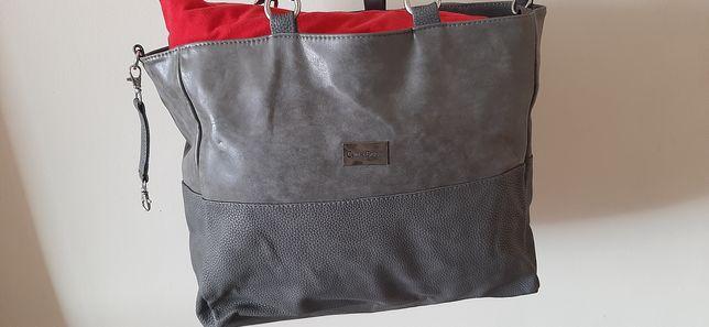 Piękna i bardzo pojemna torebka skórzana