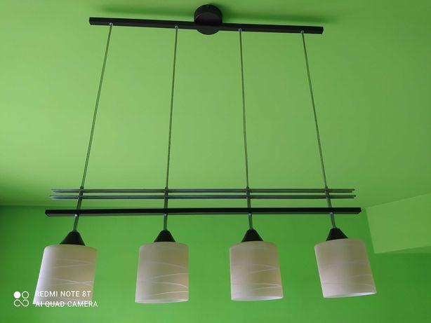 Lampa wisząca z 4 kloszami