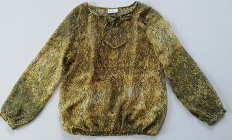Żółto-zielona bluzka 44