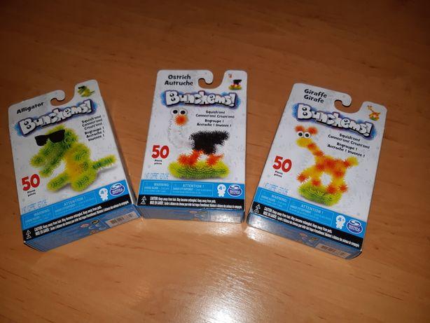 Bunchems 3 zestawy x 50 kolorowych rzepów
