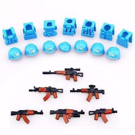 # 038. Набор ООН + оружие военный конструктор