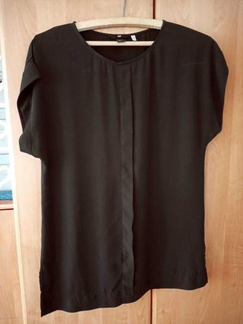 Śliczna elegancka bluzka H&M cienka czarna