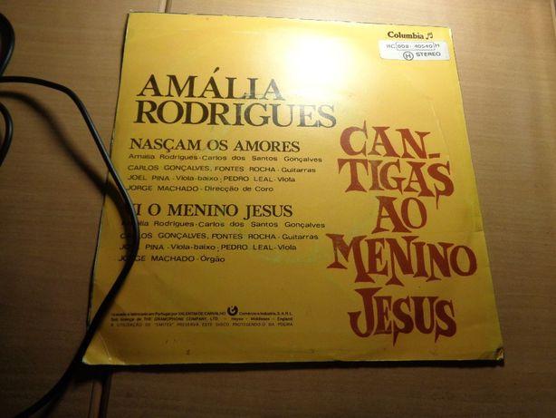 Disco Single Amália Rodrigues Cantigas ao Menino Jesus Usado