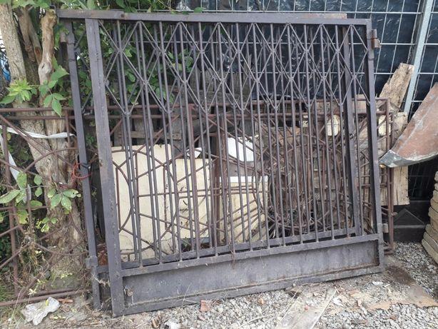 Brama ogrodzeniowa wjazdowa 2-skrzydłowa solidna z prętów ! 3,60x1,70m