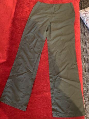 Классические брюки, цвет хакки