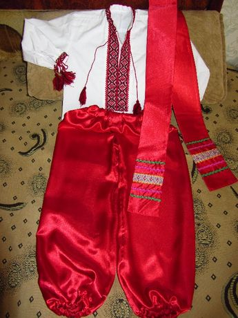 Вишиванка + шаровары с поясом для мальчика на 5-6 лет, рост 110