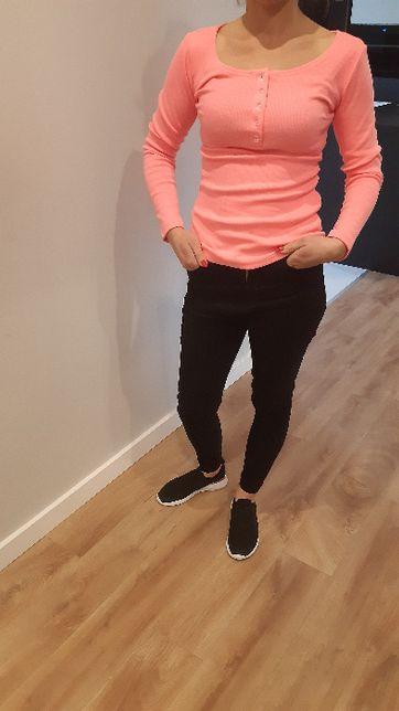 Nowa bluzka prążek neonowy róż roz.S/M
