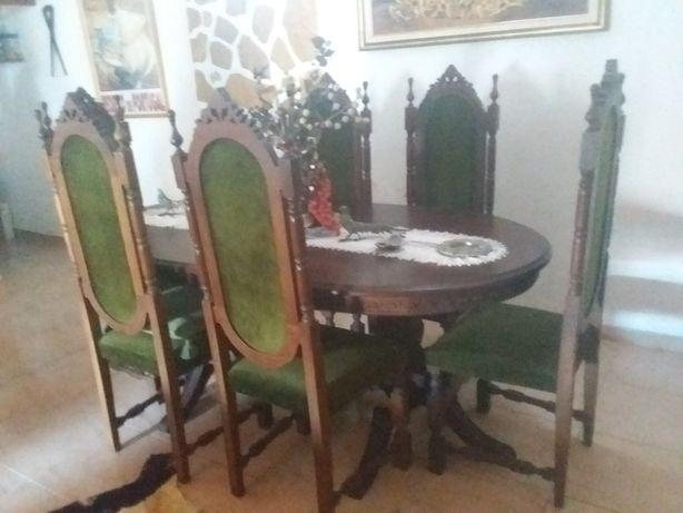 Mesa e cadeiras vintage