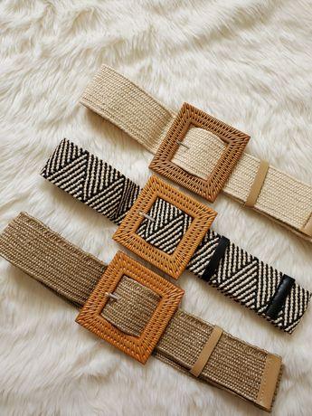 Плетёный ремень ротанг квадратная пряжка