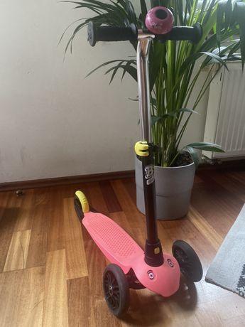 Hulajnoga Oxelo Decathlon rozowa z dzwonikem