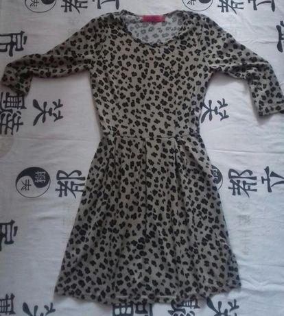 Стильное бежевое платье в принт от boohoо, платя, плаття, платтячко