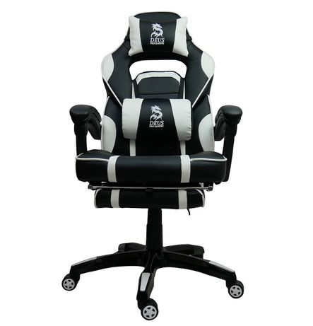 Fotel Gamingowy Deus Large Black/White - Warszawa