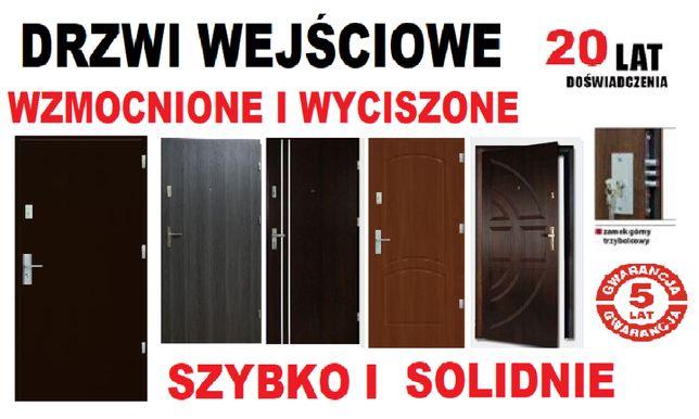 Drzwi z MONTAŻEM-wejściowe ZEWNĘTRZNE- wewnątrzklatkowe do mieszkani