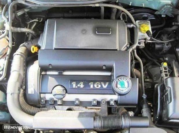 Motor Skoda Octavia 1.4i 16v 75cv AHW APE AKQ AXP BCA Caixa de Velocidades Automatica - Motor de Arranque  - Alternador - compressor Arcondicionado - Bomba Direção