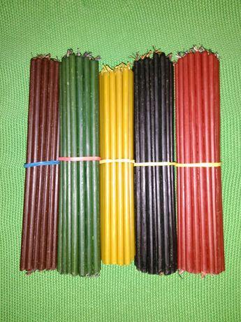 Восковые Свечи тонкие цветные для любых ритуалов