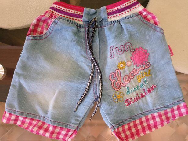 Джинсовые шорты на девочку 1,5-2,5 годика