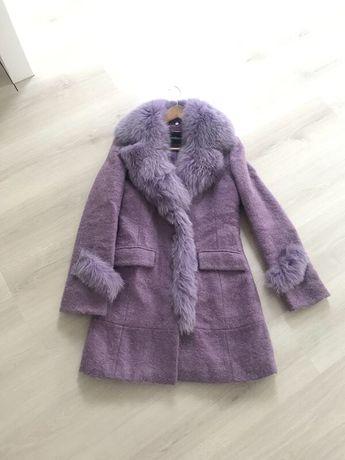 Пальто с натуральным мехом пальтишко шубка куртка плащ