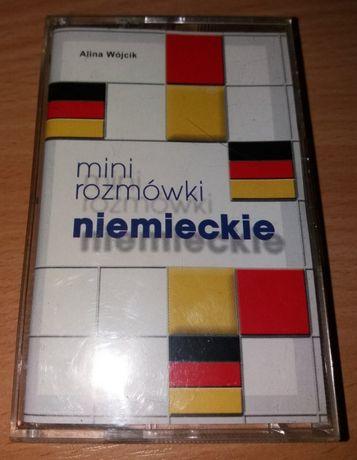 Kaseta magnetofonowa mini rozmówki niemieckie /NOWA/
