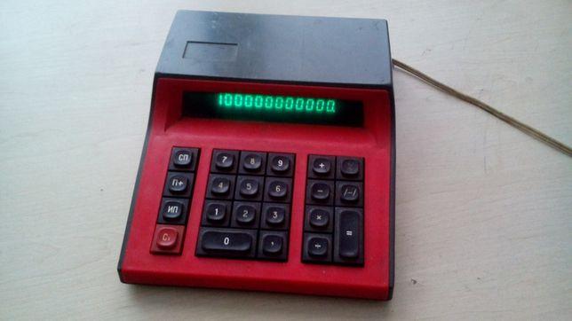 Счётная машинка СССР электрокалькулятор калькулятор от сети