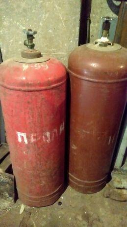 Баллоны газовые - 2 шт. по 50л., один даже с газом