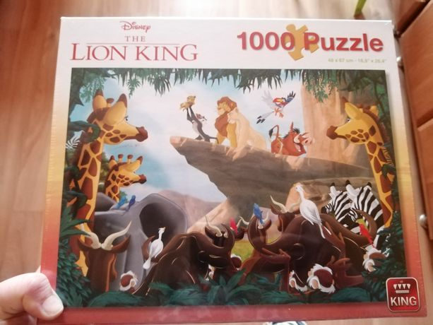 Puzzle 1000 Król lew Disney nowe