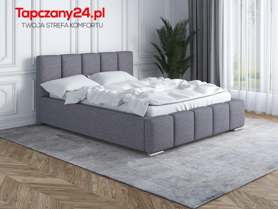 Łóżko sypialniane tapicerowane Lea + Stelaż Pojemnik na pościel GRATIS