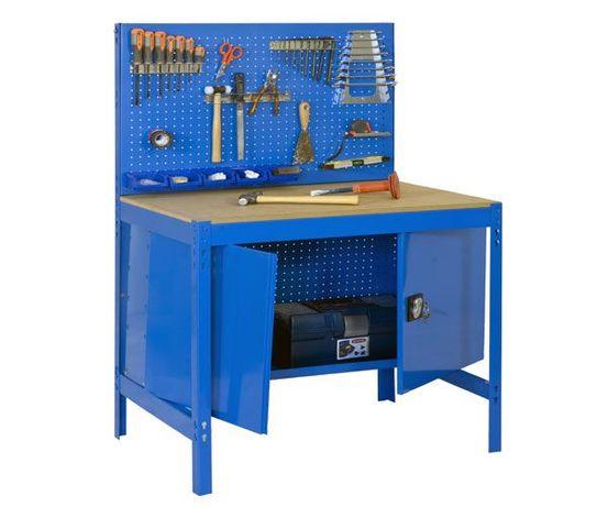 Bancada Banca de trabalho Armário com painel perfurado p/ ferramentas