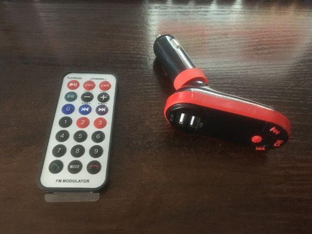 Transmiter FM Bluetooth 2 X USB + MP3 + SD