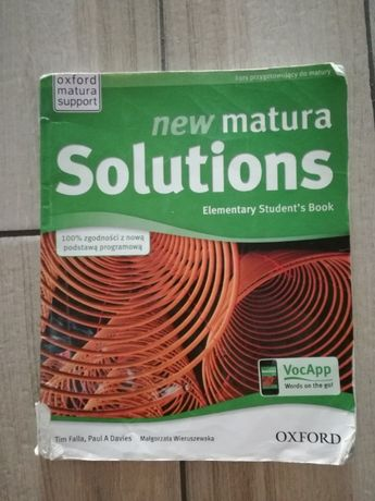 Solutions New Matura elementary podręcznik