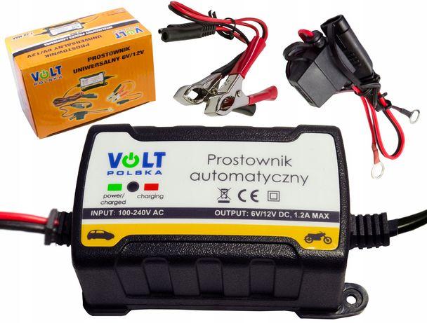 Prostownik ładowarka do akumulatora 6V 12V 1,2A (PRO41)
