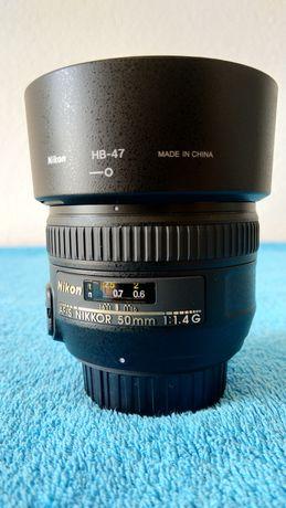 Objetiva Nikon AF-S Nikkor 50 1.4 G como nova