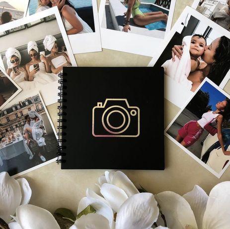 Фотоальбом, альбом, блокнот с черными листами