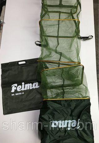 Садок рыболовный Feima 2,5 м прямоугольный с прорезиненной сеткой