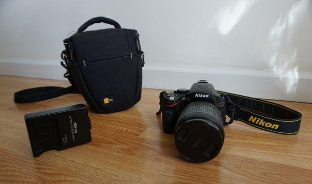 Nikon d5100 z obiektywem Nikon AF-S NIkkor 18-105mm + dodatki