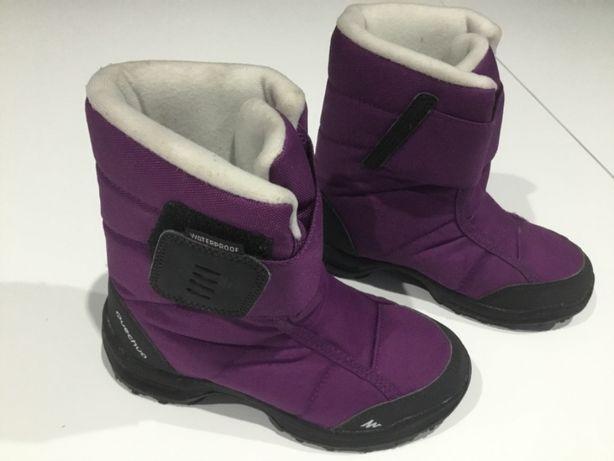 Kozaki zimowe Quechua ocieplane, dziecięce, dla dziewczynki, r. 31