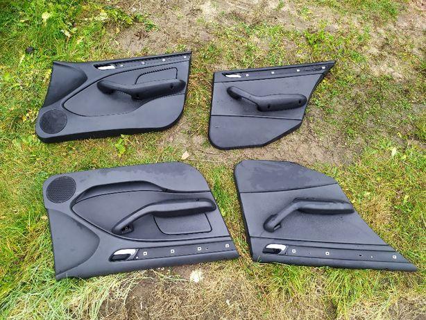Tapicerka drzwiowa BMW E46 czarna skóra