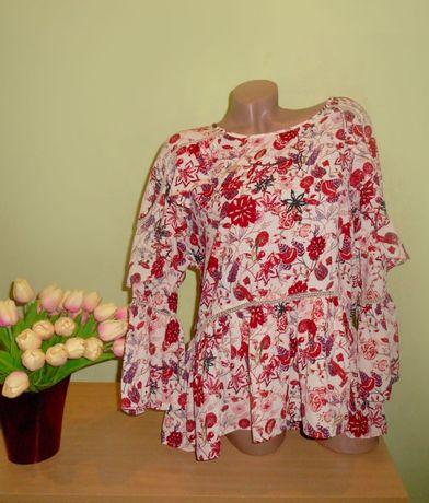 шикарная блузка с воланами 14 размер