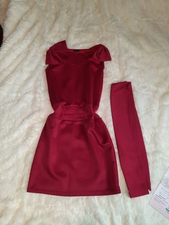 Красное платье 46-48 размера